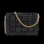 sac raphia luxe noir